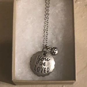 You Are Loved Silver Charm Necklace